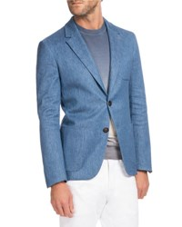 Berluti Chambray Two Button Blazer Medium Light Blue