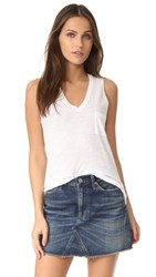 Madewell Whisper Cotton V Neck Tank Optic White