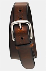 Men's Fossil 'Hanover' Leather Belt Brown