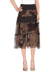 Cristinaeffe Skirts 3 4 Length Skirts Women Dark Brown