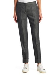 Armani Collezioni Mini Herringbone Cuffed Pants Grey Multi