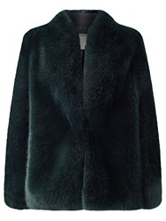 Jacques Vert Faux Fur Jacket Dark Green