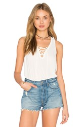 Three Eighty Two Remy Lace Front Tank White