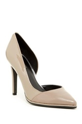 Kenneth Cole Reaction Bee Day Leather Pump Beige