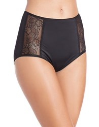 Jockey Slimmers Side Lace Shaping Brief Black