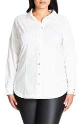 City Chic Plus Size Women's So Crisp Shirt