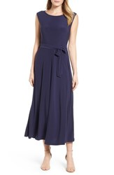 Chaus 'S Cap Sleeve Tie Waist Maxi Dress 529 Evening Navy