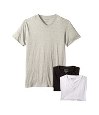 Kenneth Cole Reaction 3 Pack Classic Fit V Neck Tee White Grey Heather Black T Shirt