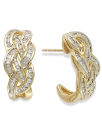 Wrapped In Love Diamond Woven Hoop Earrings In 10K Gold 1 Ct. T.W.