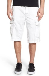 True Religion Men's Brand Jeans 'Isaac' Cargo Shorts Cwr White