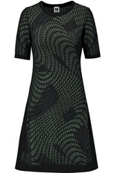 M Missoni Metallic Knitted Dress Green