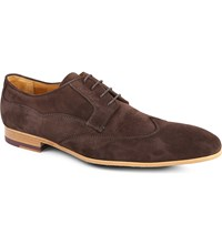 Paul Smith Wallace Slim Wingtip Derby Shoes Brown