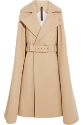Gareth Pugh Cape Effect Wool Coat Camel