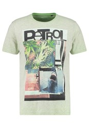 Petrol Industries Print Tshirt Green Gecko Mottled Green