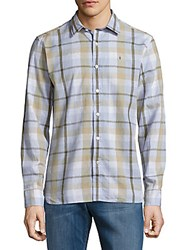 Victorinox Plaid Cotton Blend Shirt Spartan Green