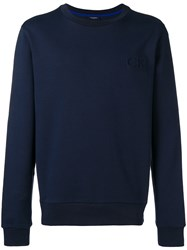 Ck Calvin Klein Kapta French Terry Sweatshirt Blue
