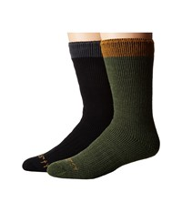 Carhartt Arctic Thermal Crew Socks 2 Pair Pack Green Men's Crew Cut Socks Shoes