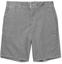 Rag And Bone Cotton Chambray Shorts Dark Gray