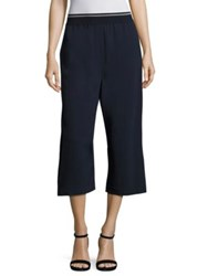 Dkny Cropped Wide Leg Pants Classic Navy