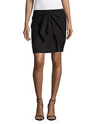 Saks Fifth Avenue Solid Pull On Skirt Black