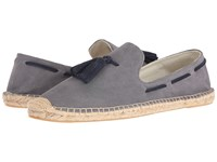 Soludos Tasseled Smoking Slipper Owl Gray Men's Flat Shoes