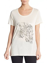 Haute Hippie Graphic Knit Tee Swan