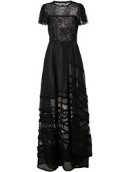Jason Wu Lace Insert Gown Black
