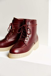 F Troupe Lace Up Boot Maroon