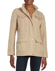 Weatherproof Quilted Parka Jacket Oatmeal