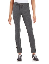 Steve Madden Lace Up Jogger Pants Black Tea