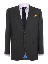 Chester Barrie Textured Wool Flannel 2Pc Soho Suit Grey