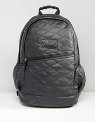 Heist Quilted Leather Look Backpack Black