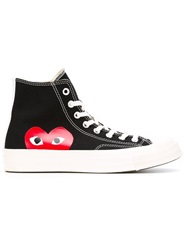 Comme Des Garcons Play Comme Des Garcon Play X Converse 'Chuck Taylor All Star' Hi Top Sneakers Black