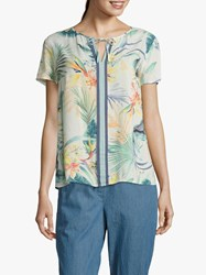 Betty And Co. Floral Print White Multi