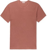 James Perse Slim Fit Combed Cotton Jersey T Shirt Red