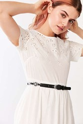 Urban Outfitters Thin Metal Plated Belt Black