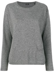 Aspesi Cashmere Fine Knit Sweater Grey