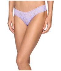 Hanky Panky Petite Signature Lace Low Rise Thong Hyacinth Women's Underwear Blue