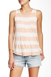 Gypsy05 Striped Tie Dye Tank Pink
