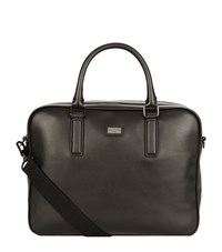 Ted Baker Caracal Leather Document Bag Black