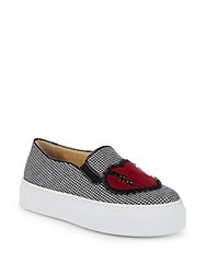 Charlotte Olympia Houndstooth Platform Sneakers