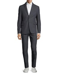 Valentino Cotton Two Piece Suit Navy
