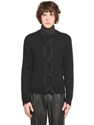 Etro Distressed Mohair Blend Knit Sweater