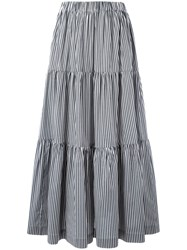 P.A.R.O.S.H. Long Tiered Skirt Grey