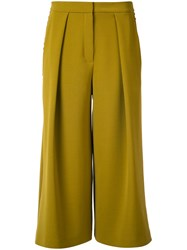 Roksanda Ilincic Cropped Palazzo Pants Yellow Orange