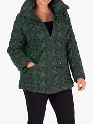Chesca Mini Bonfire Embroidered Quilted Coat Green