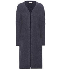 Acne Studios Raya Wool And Mohair Blend Cardigan Blue