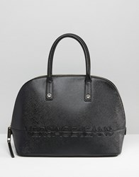 Versace Jeans Structured Tote Bag Black E899