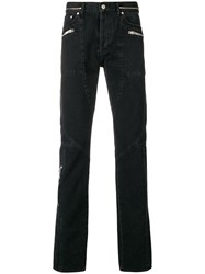 Givenchy Zip Detail Straight Jeans Grey