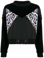 Just Cavalli Leopard Print Panel Sweatshirt 60